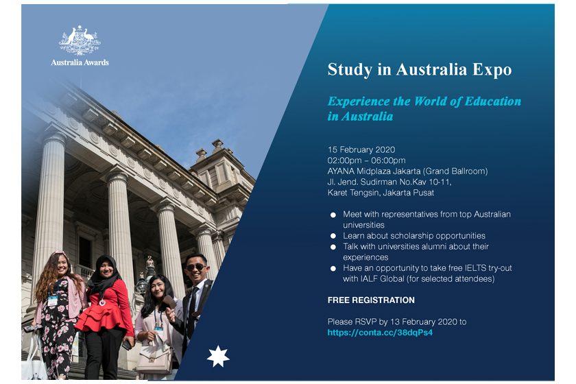 Join us at the Study in Australia Expo in Denpasar and Jakarta