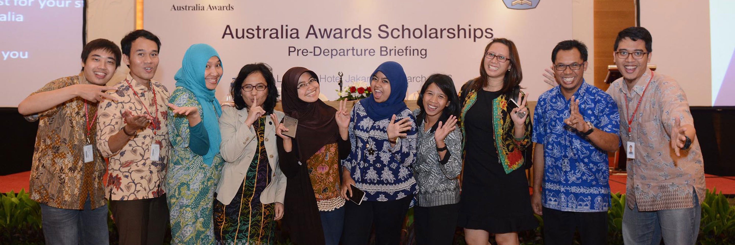 Australia Awards Scholars participate in a Pre-Departure Briefing before embarking on their study in Australia.