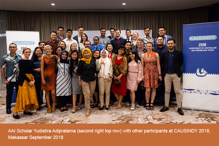 AAI Scholar Yudistira Adipratama with other participants at CAUSINDY 2018, Makassar, September 2018