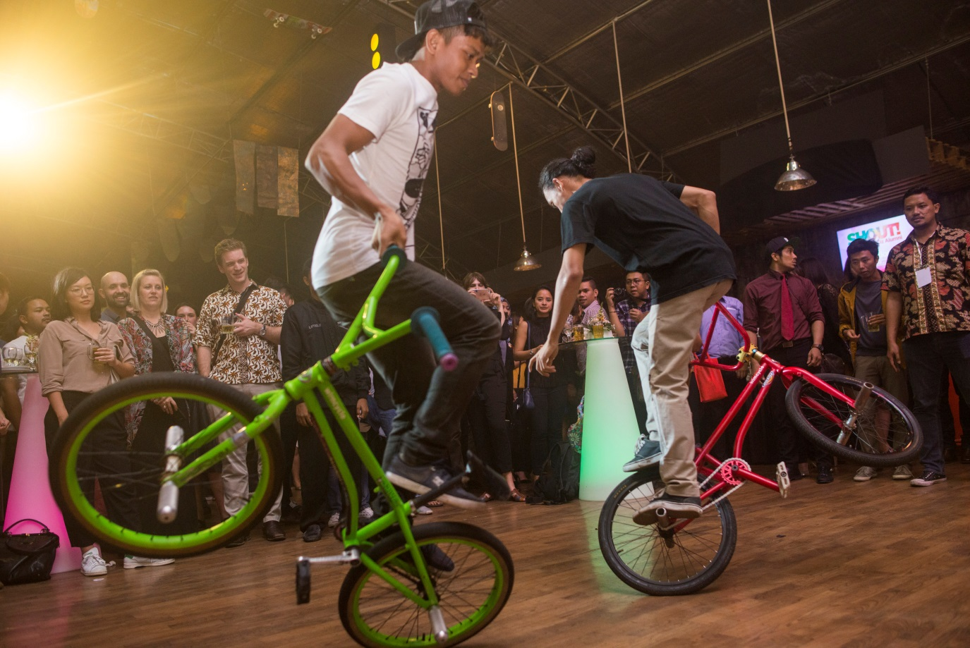 BMX demonstration at SHOUT! The Voice of Oz Alumni on 19 August 2016 in Jakarta.