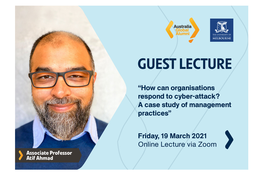 Join us at the Guest Lecture on Cyber-Attack
