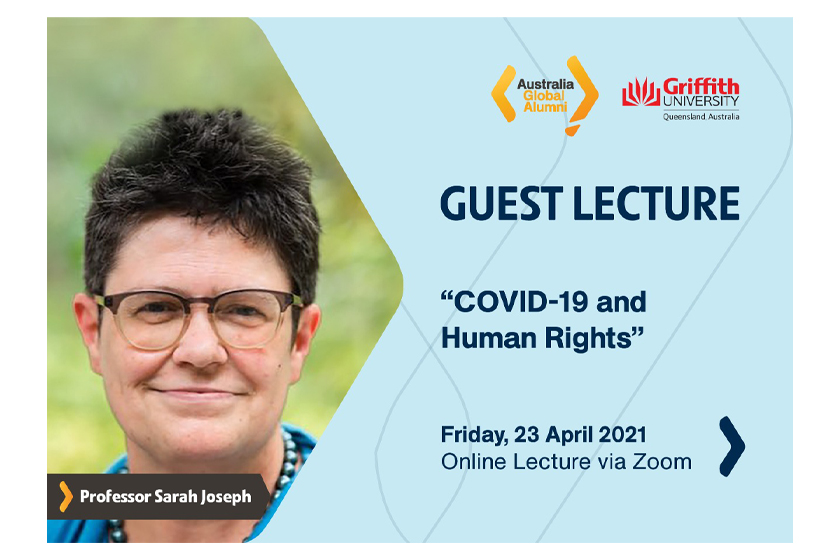 Join us at the Guest Lecture on COVID-19 and Human Rights